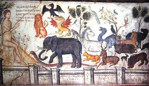 L'homme, prêtre de la Création : Adam nomme les animaux